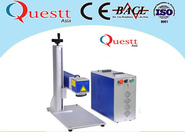 Small Optical Fiber Laser Marking Machine 20 Watt 7000 Mm/S 3 Axis Computer Controller